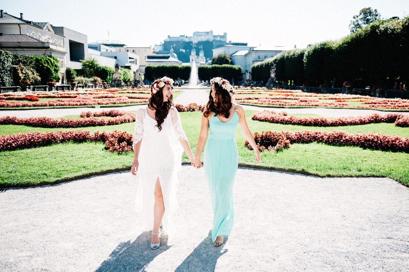Die schönsten Fotos mit der Braut | Sonne im Rücken