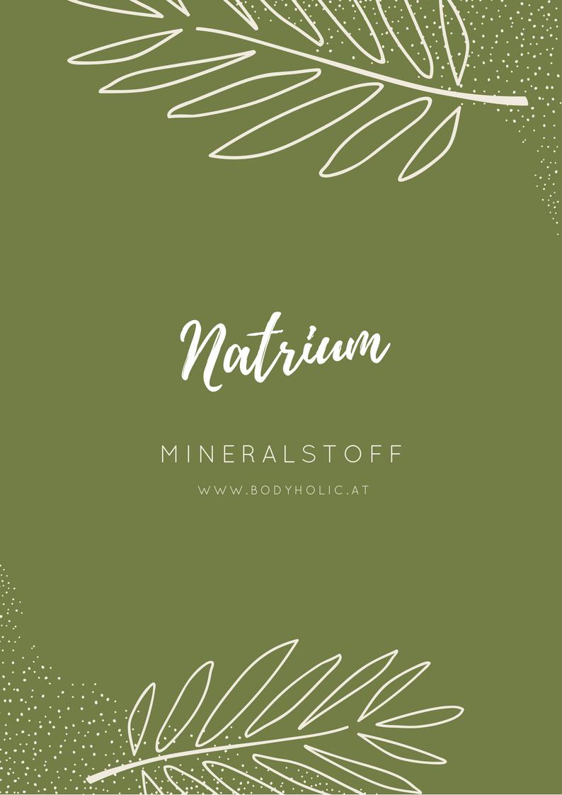 Mineralstoff Natrium