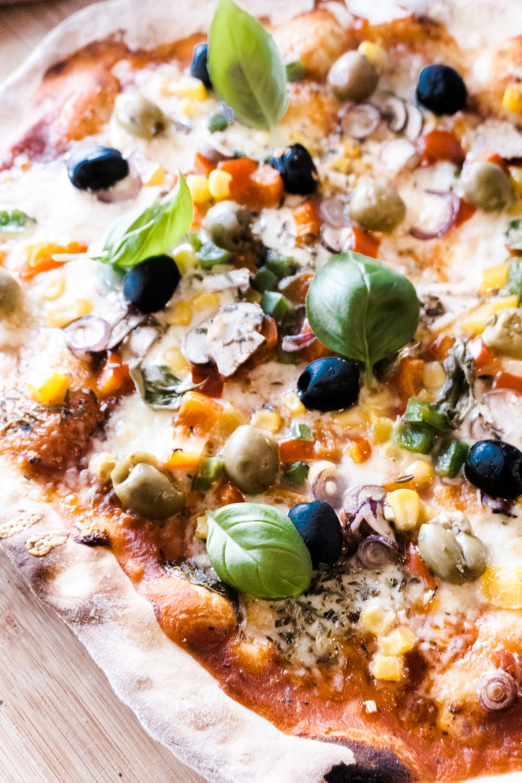 Wir haben vegetarische Pizza gemacht