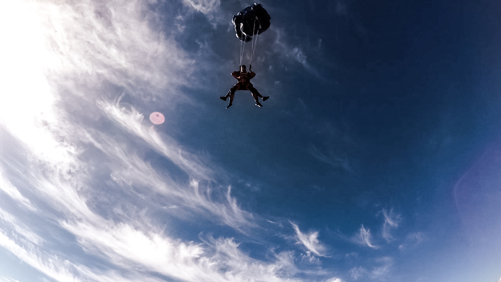 Wir waren Fallschirmspringen