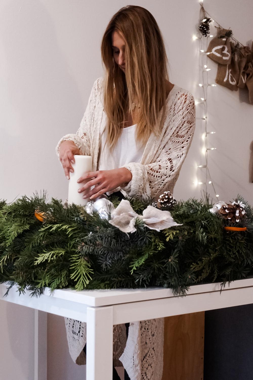 1- Meter Weihnachtskranz - basteln für die Weihnachtszeit