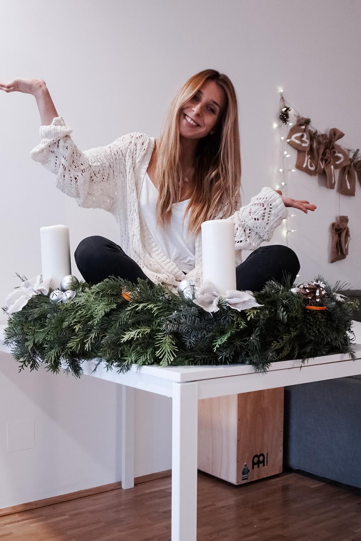 Ein Meter Weihnachtskranz - basteln für die Weihnachtszeit