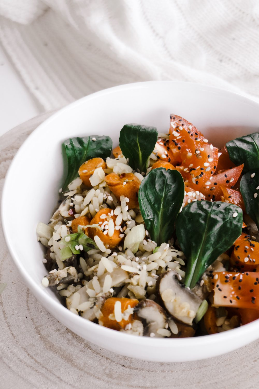 Reis-Gemüse-Bowl Rezept