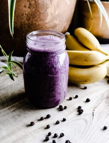 Dried Blueberry-Banana-Coconut Smoothie