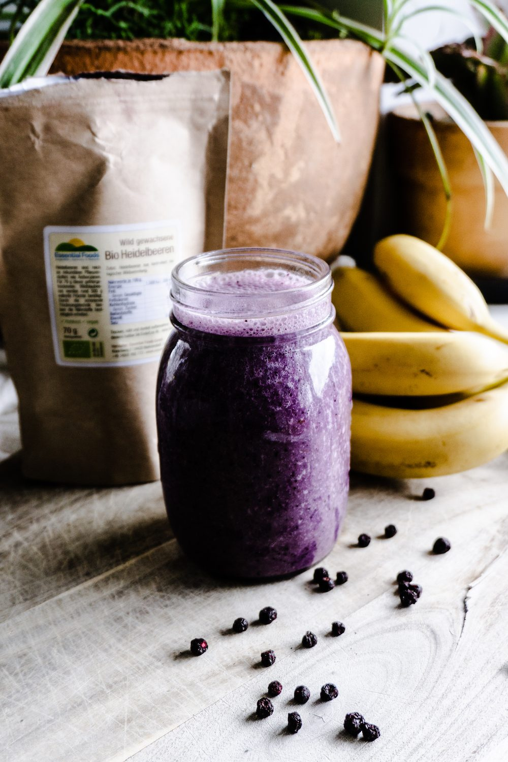Blueberry-Banana-Coconut Smoothie