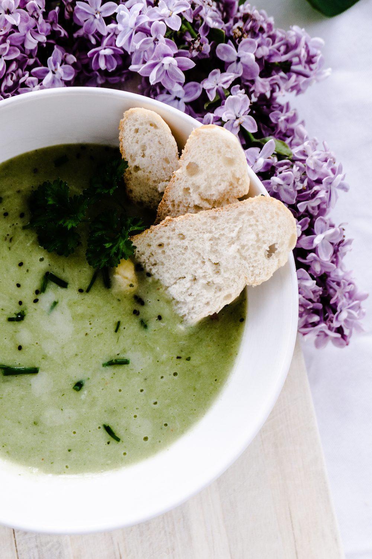 Vegane Spargel-Kartoffel-Creme Suppe