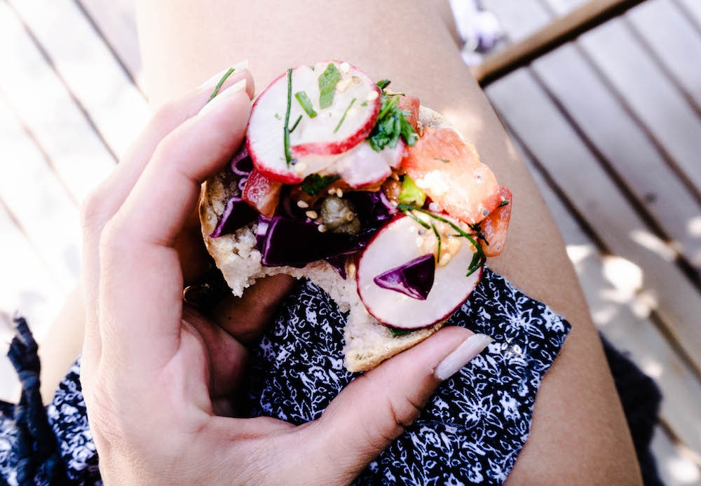 Gesundes veganes Sandwich