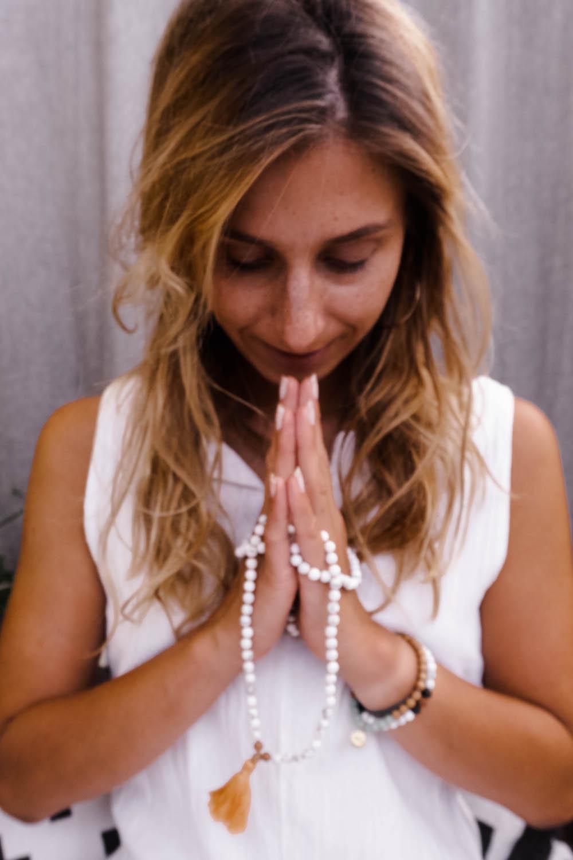 Japa Meditation mit einer Mala