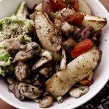 Oven Roasted Potato Veggie Bowl