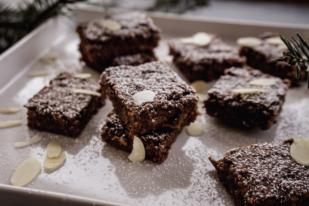 Vegan Christmas Brownies