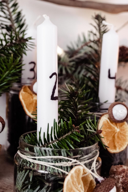 Weihnachtsguide - Adventskranz im Glas