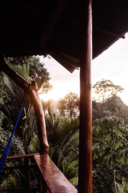 Die Pazifikküste Costa Rica's rauf und runter - Sonnenuntergang Unterkunft Drake Bay