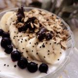 Hafer-Zimt Granola mit veganem Joghurt