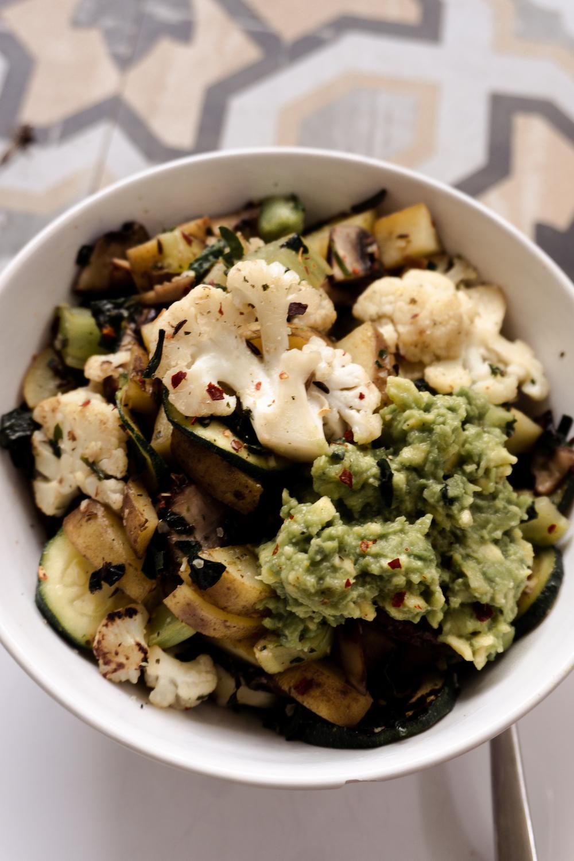 Vegane Gemüse-Bowl