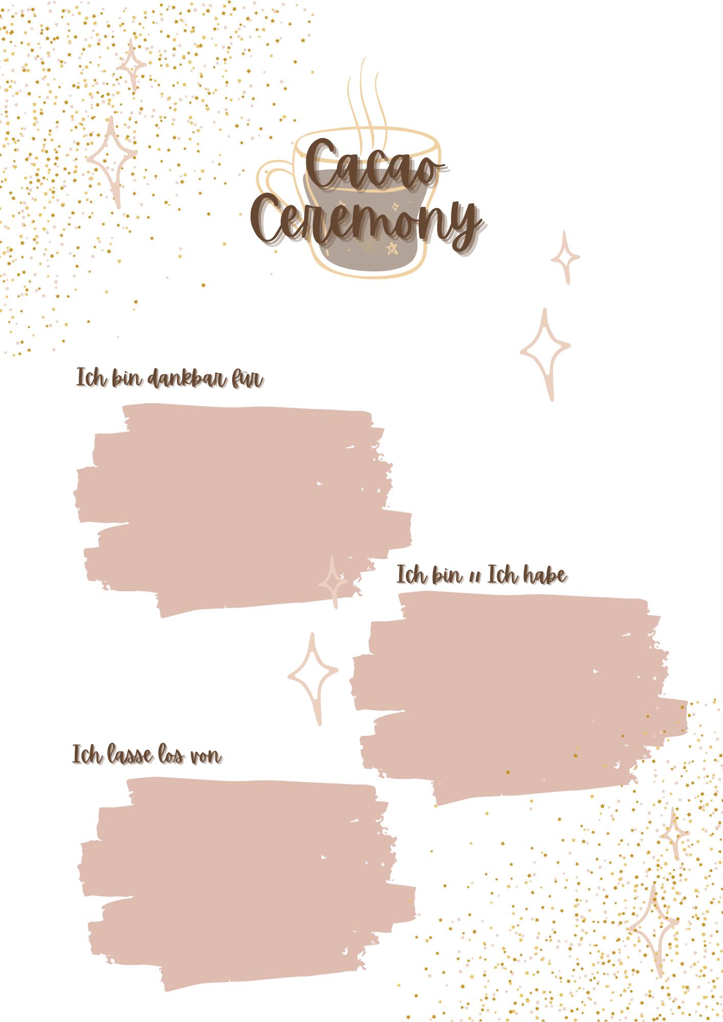 Kakaozeremonie Arbeitsblatt