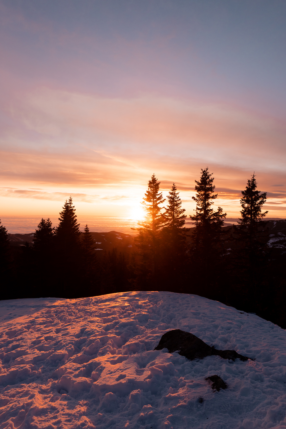 WINTER SELF-CARE-DAY - Sonnenaufgang am Berg