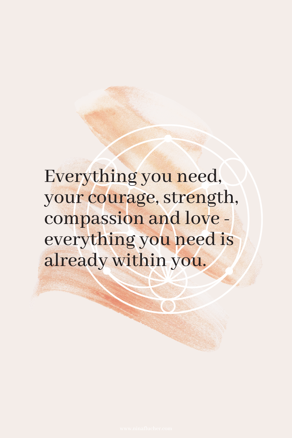 Everything you need, your courage, strength, compassion and love - everything you need is already within you. Zitate 01/21