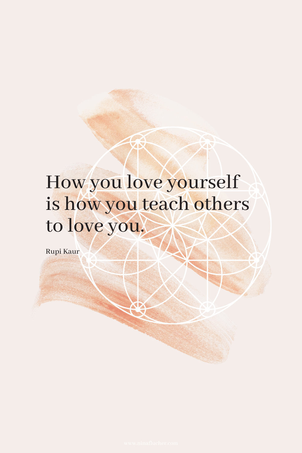 Zitate Jänner 2021 How you love yourself is how you teach others to love you.