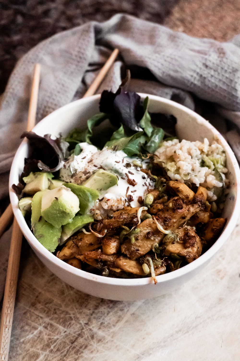 Vegan Chicken Buddha Bowl