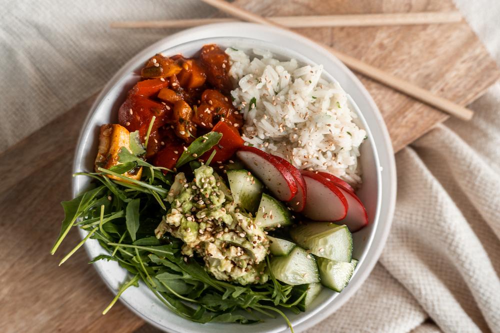 Summer Buddah Bowl mit Reis