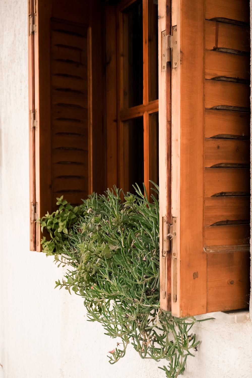 Schöne Häuser auf Skiathos